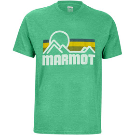 Marmot Coastal Camiseta Manga Corta Hombre, green heather
